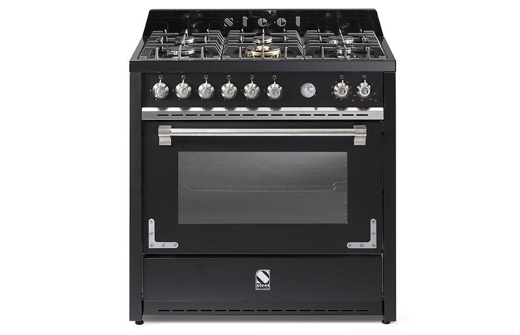 cucina gas inox colore nero