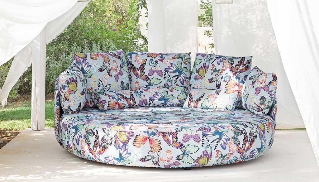 divano tondo per esterno