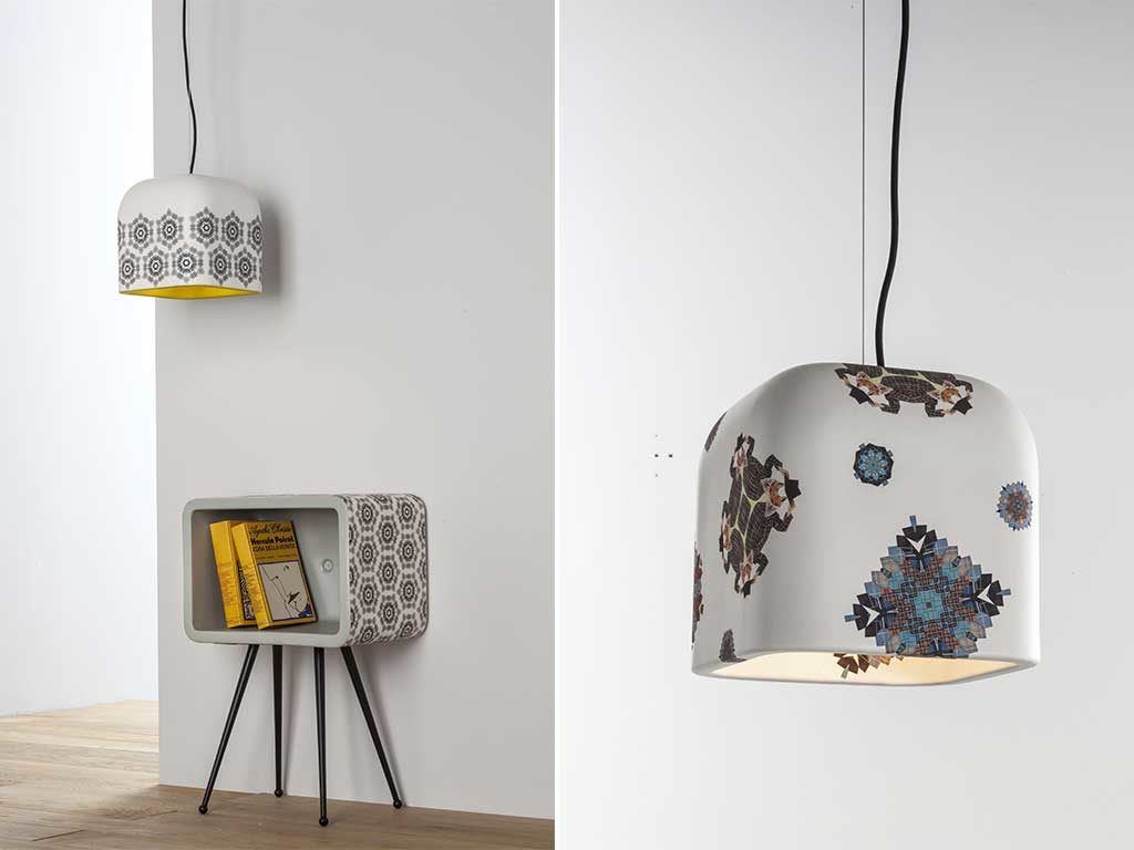 lampada sospesa decorata mano
