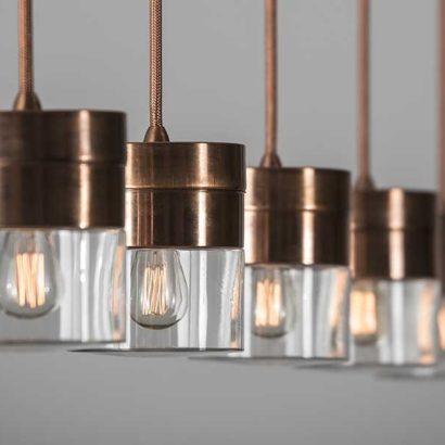 lampada sospensione ottone