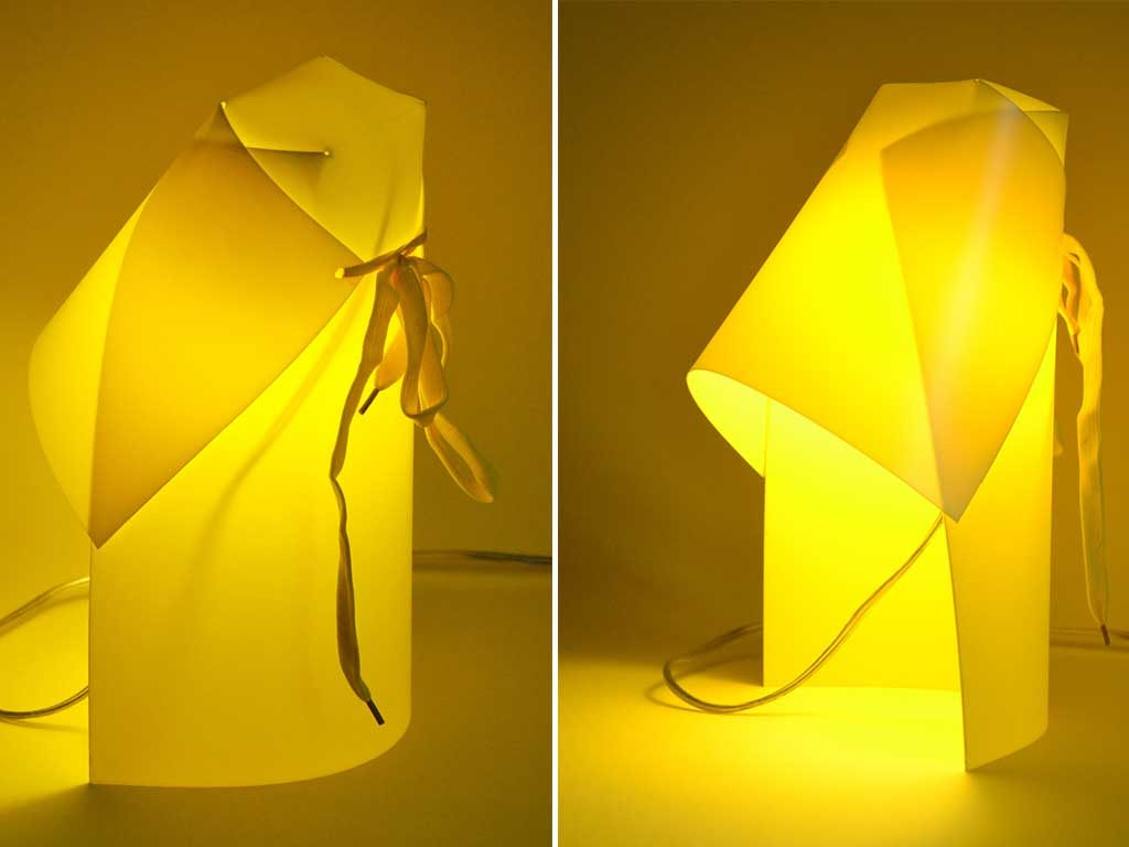 lampada tavolo propilene giallo