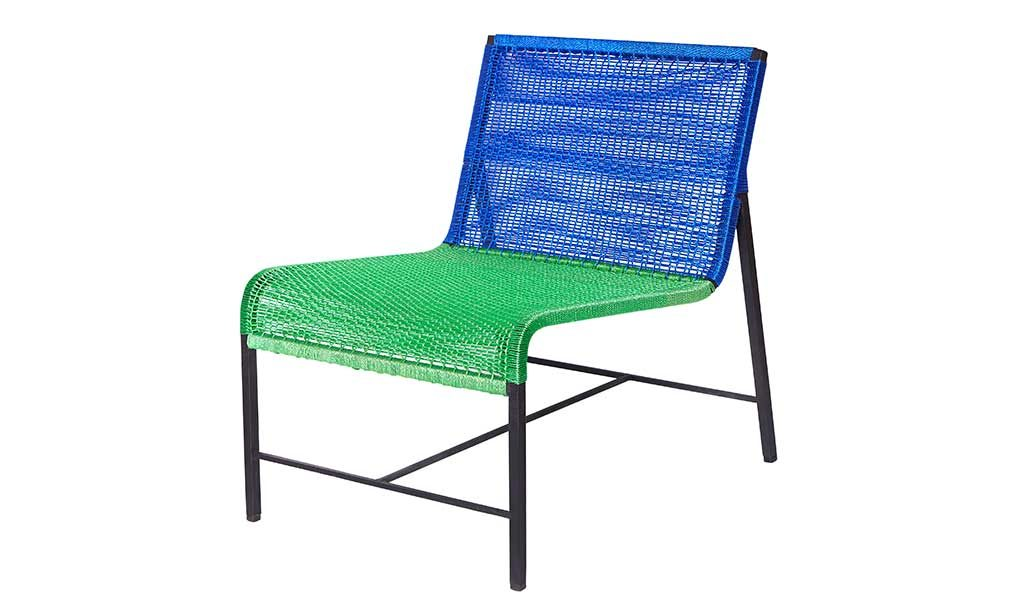 poltroncina da esterno blu verde