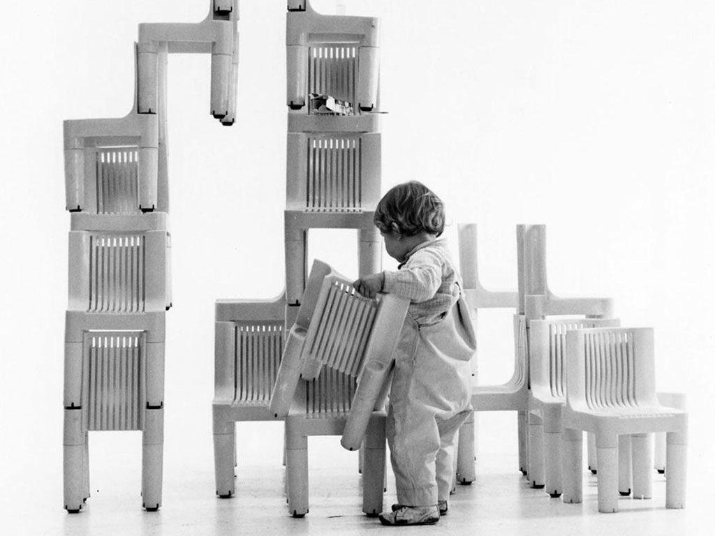 sedia bambini impilabile