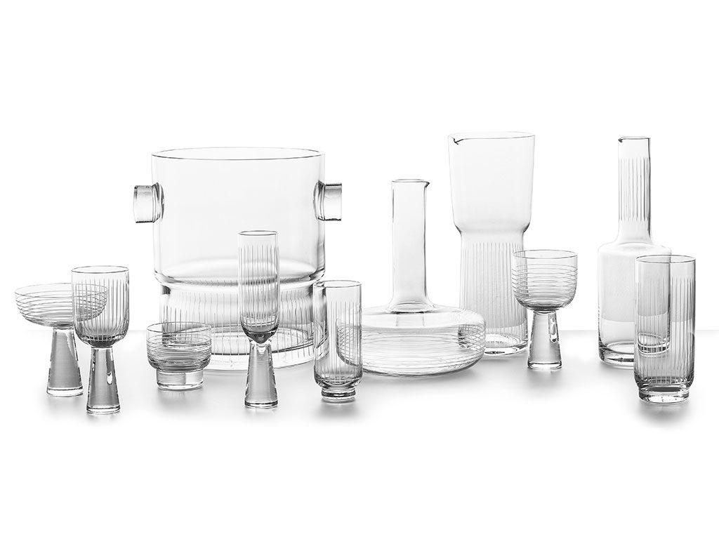 bicchieri brocca secchiello vetro