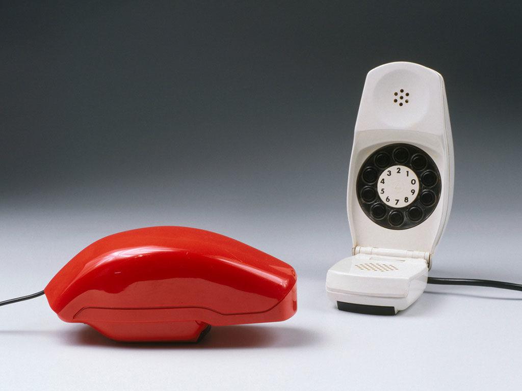 telefono grillo bianco rosso sapper