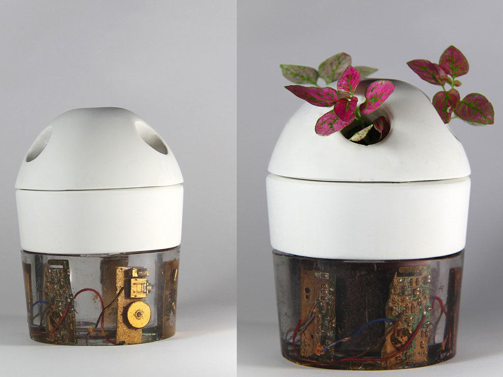 vaso fiori sperimentale resina