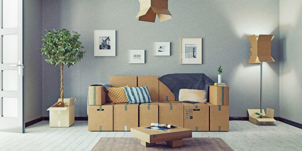 mobili cartone scatole divano