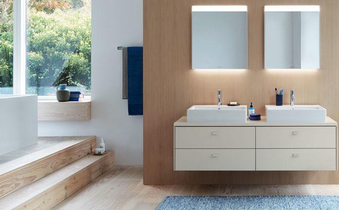 bagno colore doppio lavabo