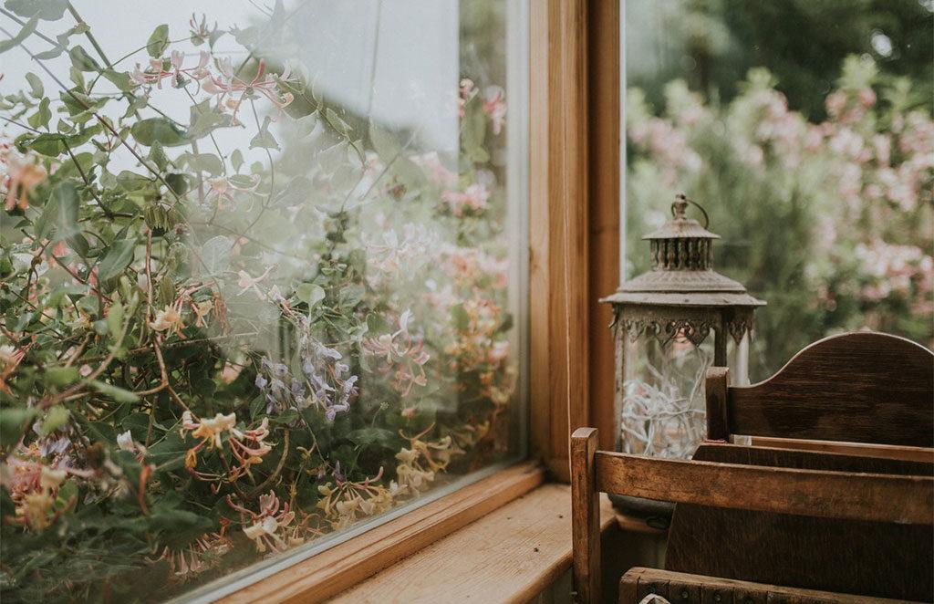 infisso legno veranda