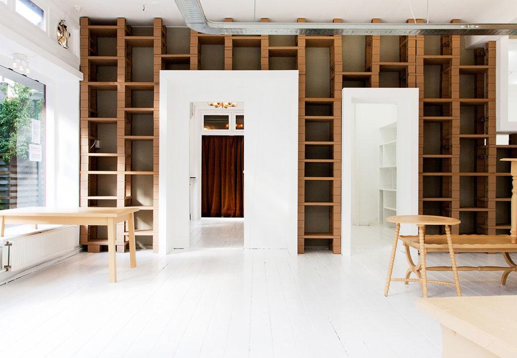 libreria cartone riciclato