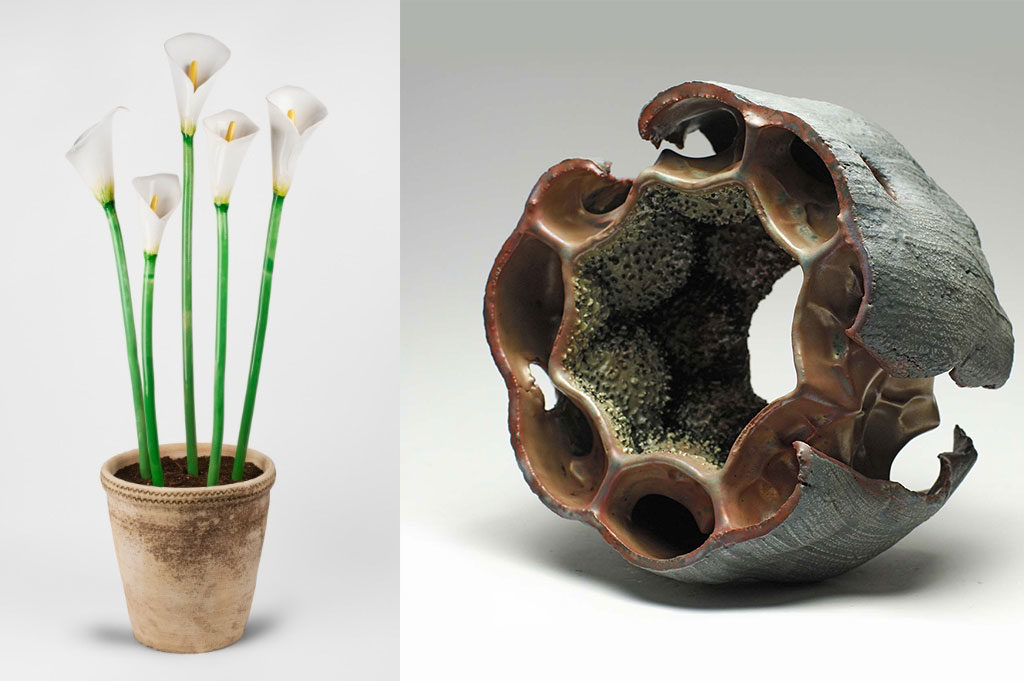 opere ceramica fiori calle