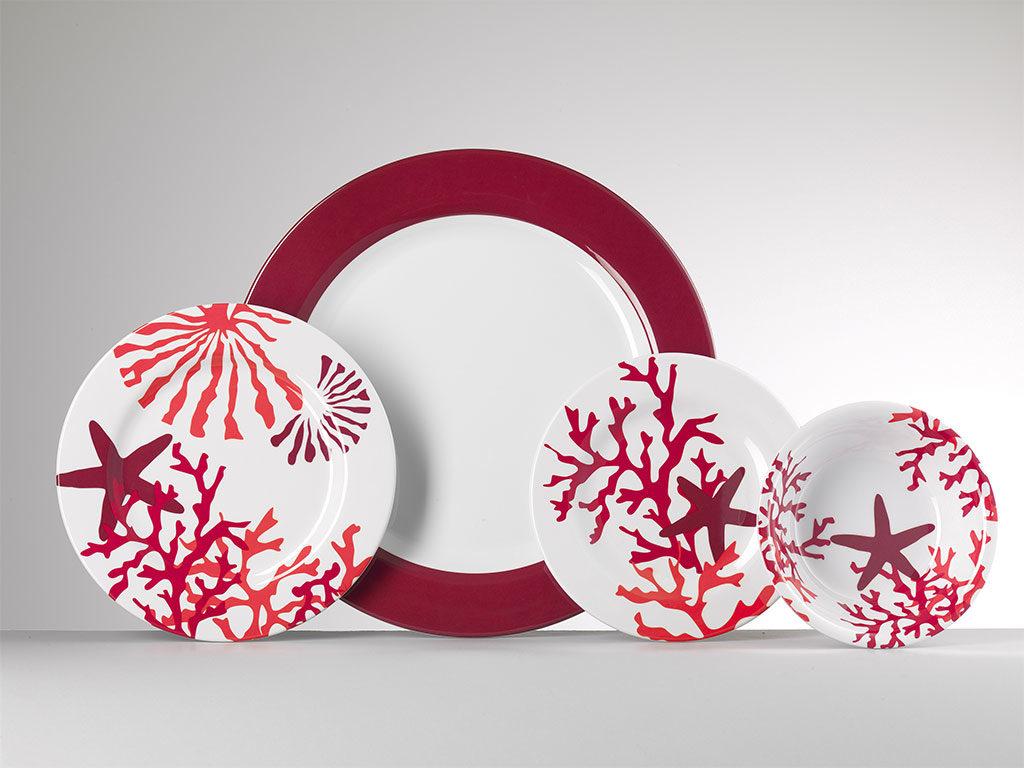 piatti decorazione corallo rosso