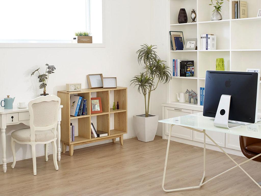 scrivania libreria pc bianco
