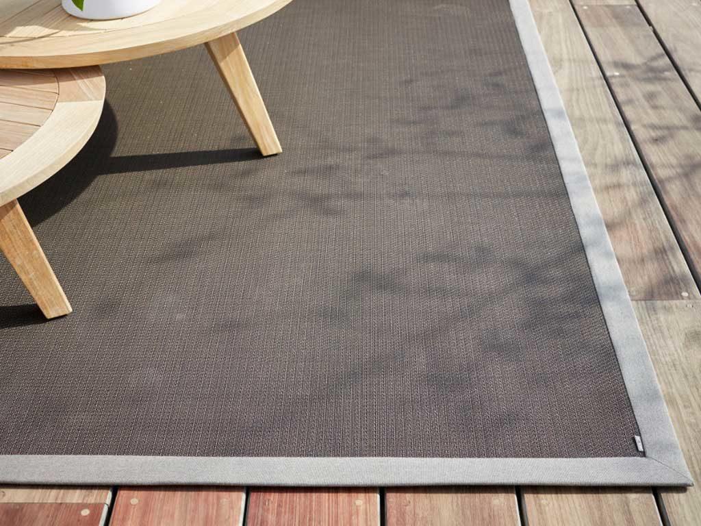 tappeto da esterno grigio scuro