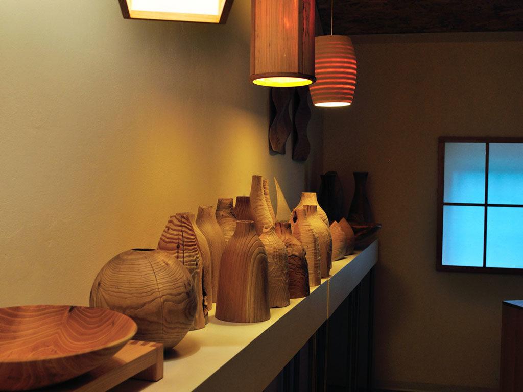 vasi ciotole lampadari legno