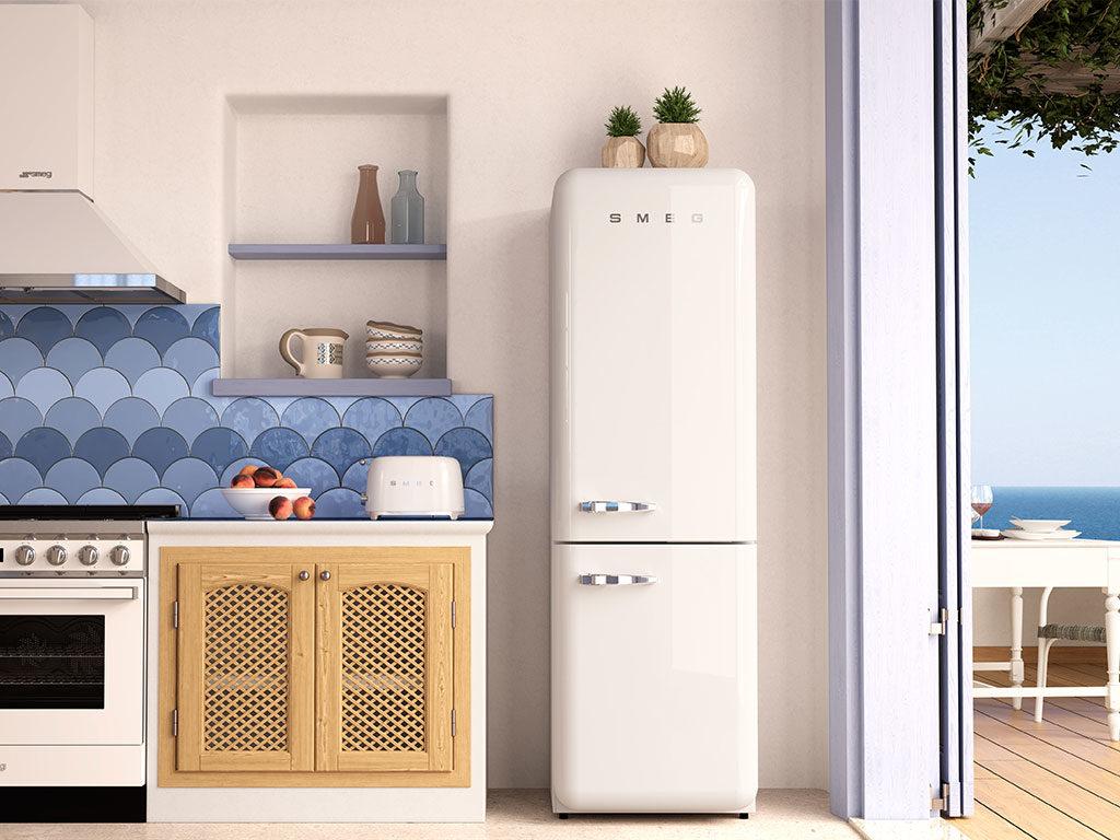 frigorifero bianco retro