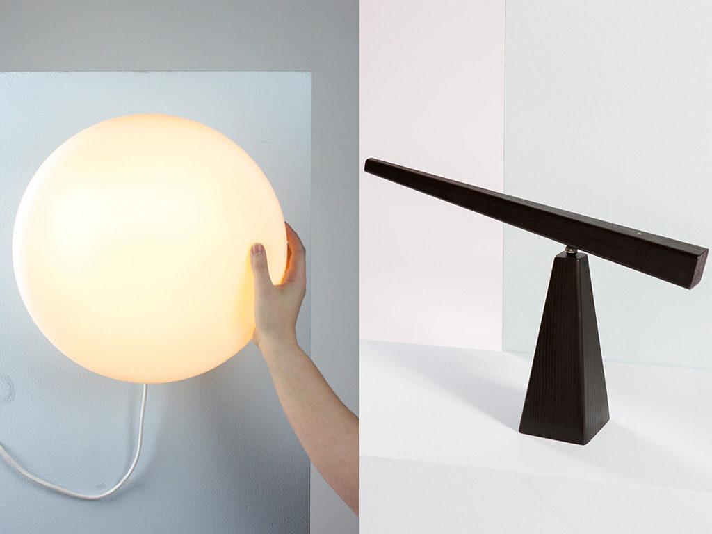 lampada parete e tavolo