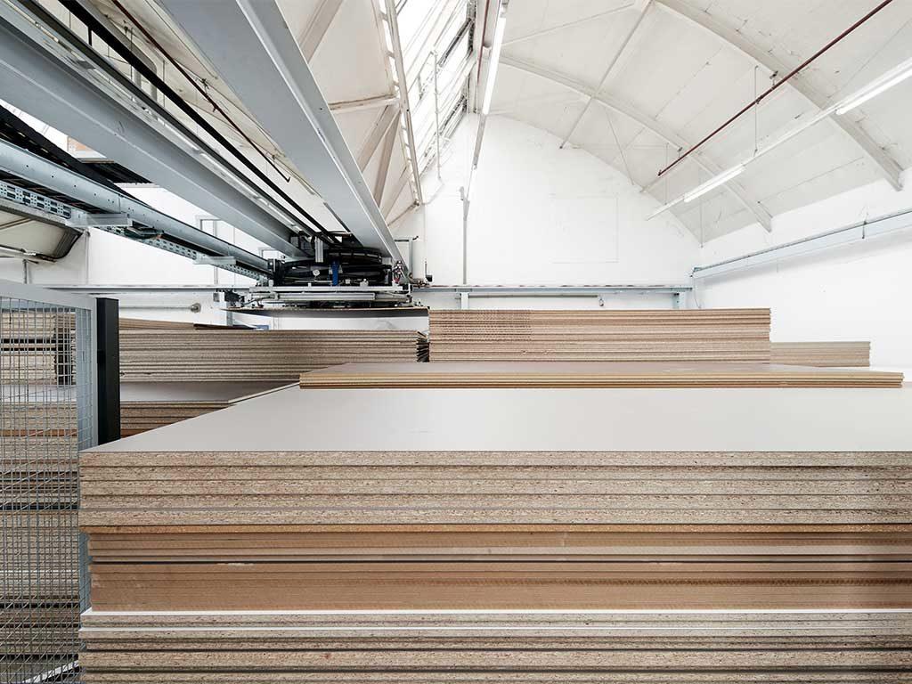 pannelli legno magazzino