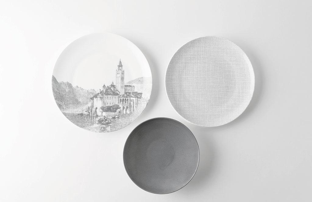 piatti decoro paesaggio