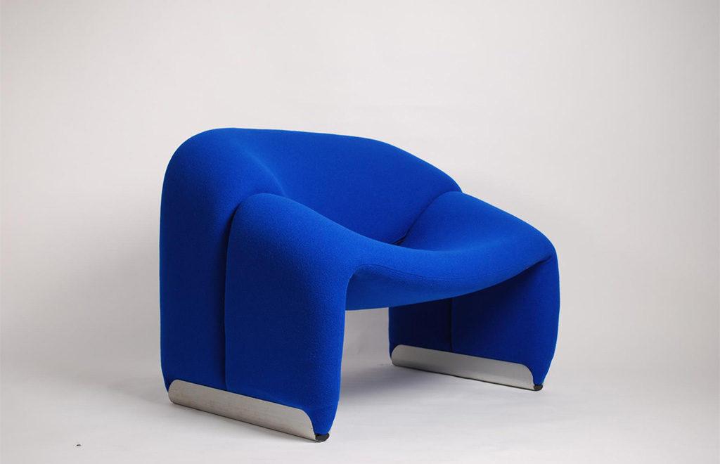 poltrona blu morbida