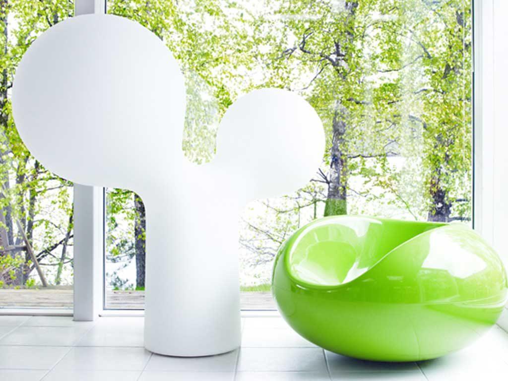 sedia esterno verde