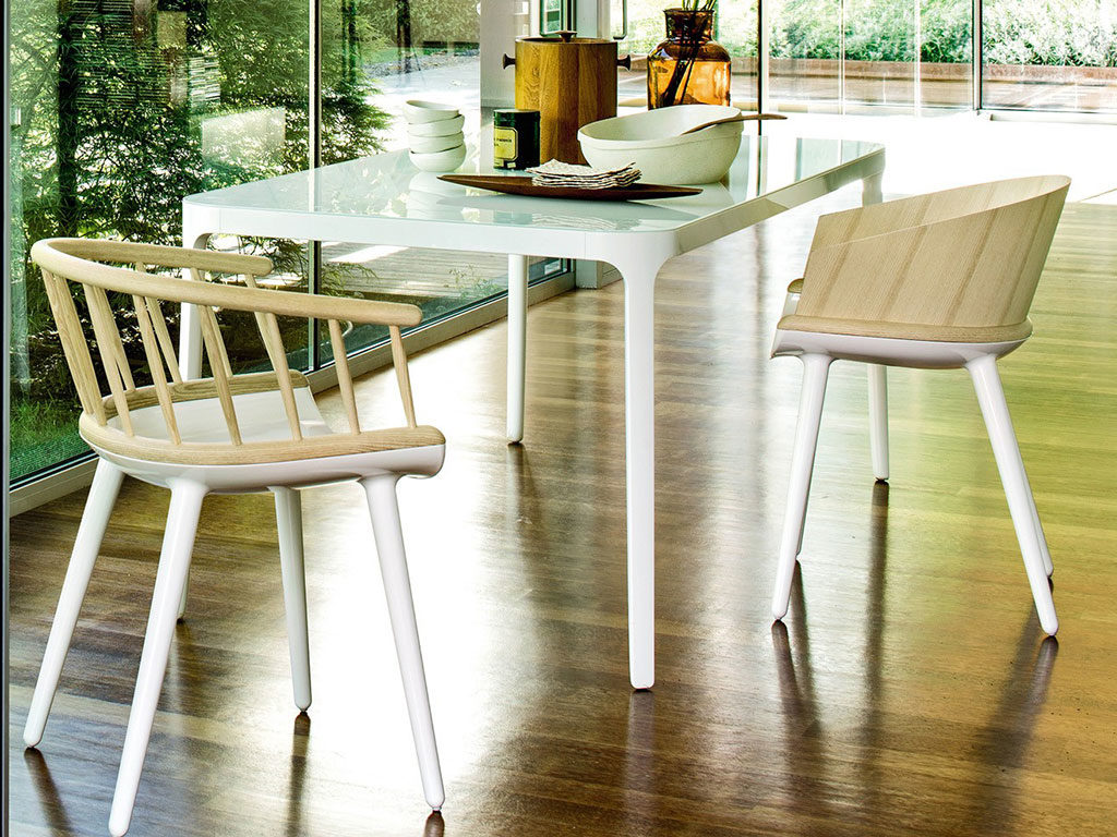sedia bianca legno marcel wanders