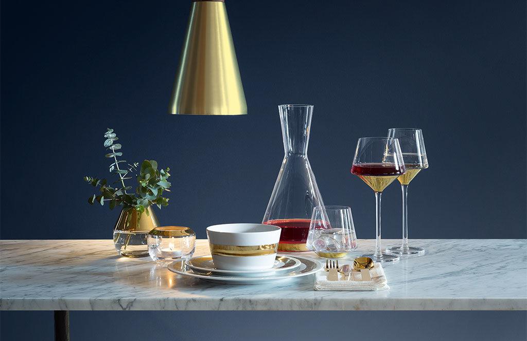 bicchieri vino geometrici