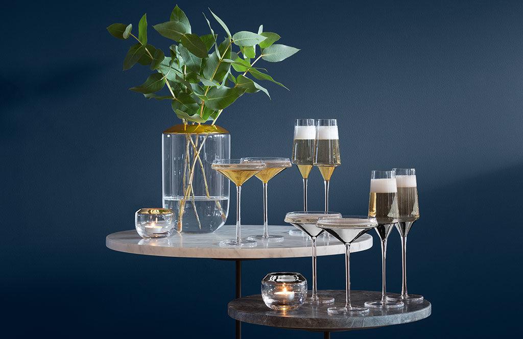 coppe e flutes champagne