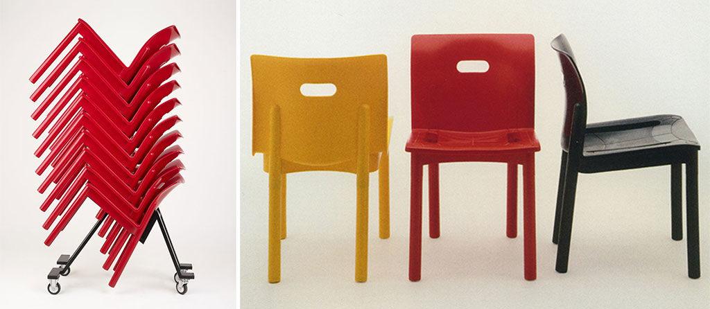 sedie plastica impilabili