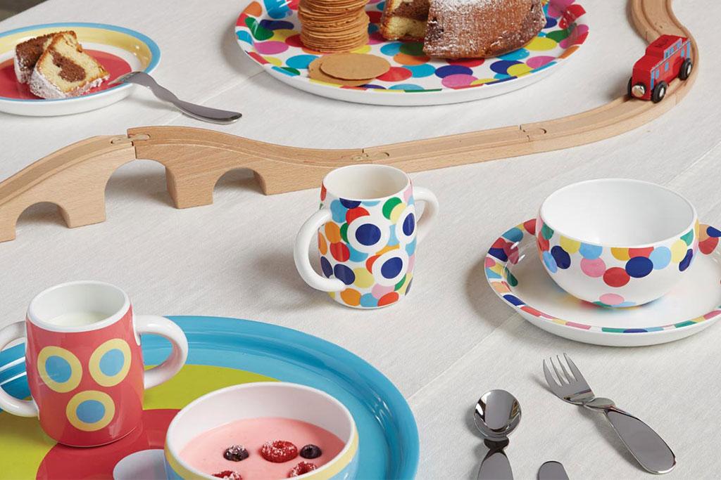 tavola per bambini colorata