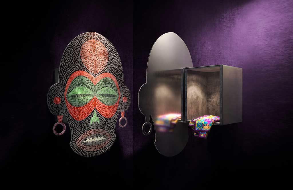 maschera parete contenitore