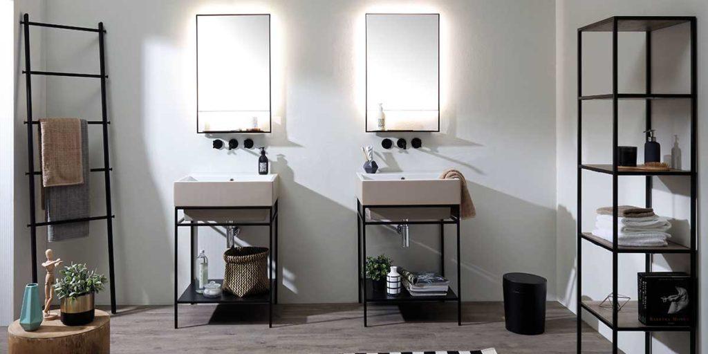 doppio lavabo singolo bagno
