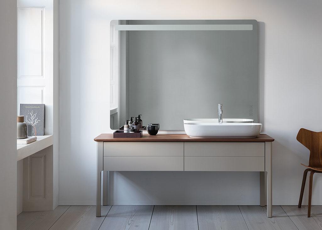 mobile bagno specchio quadrato