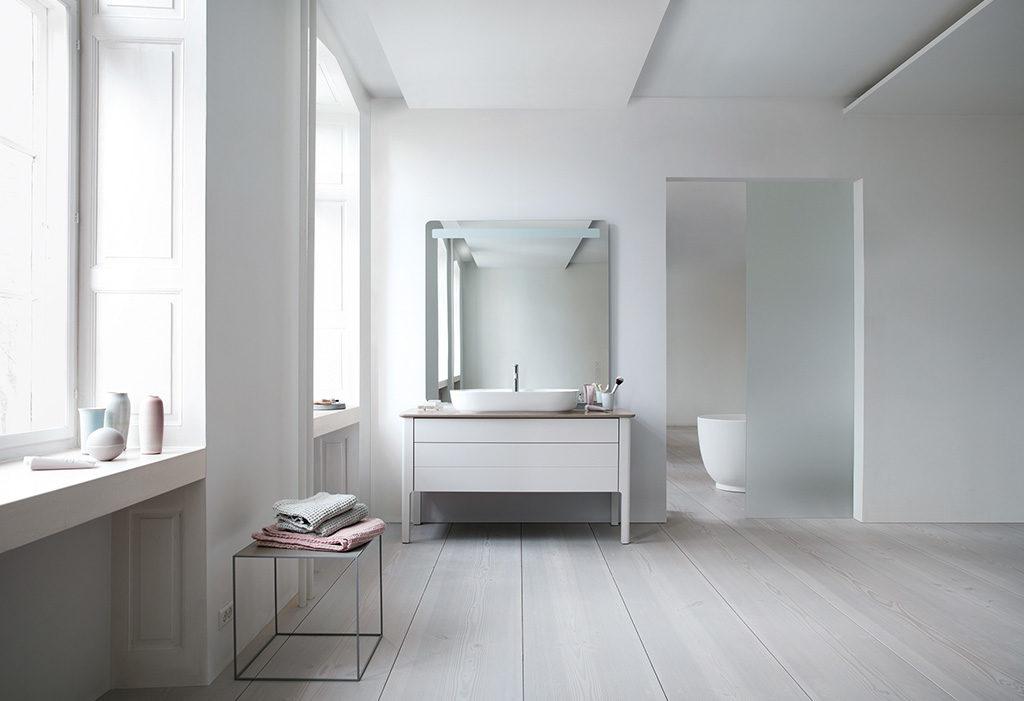bagno mobile specchio quadrato