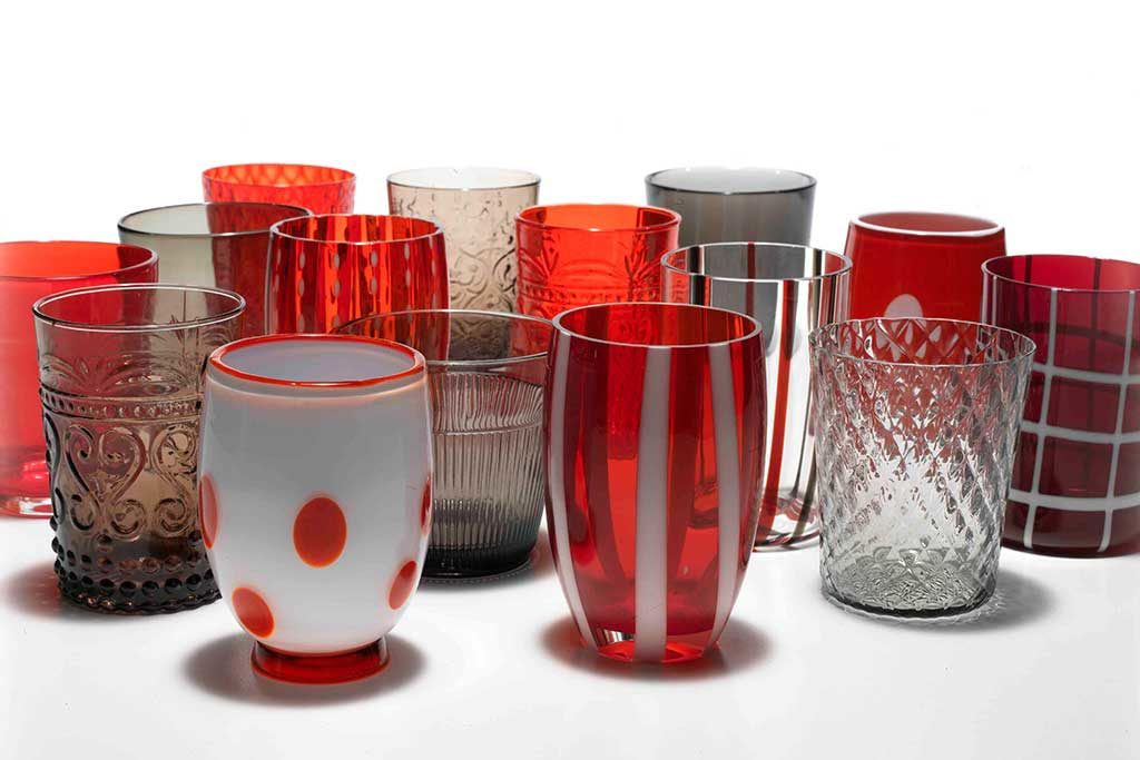bicchieri colorati rosso