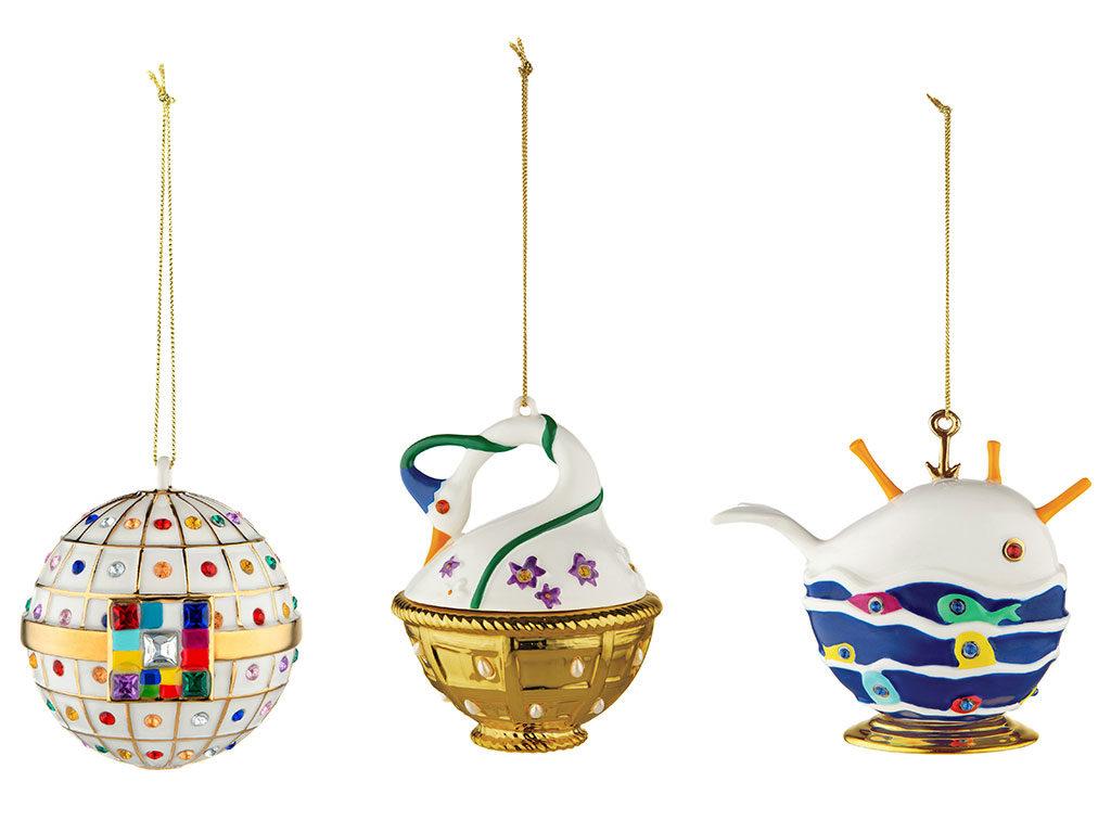 palle albero natale ceramica