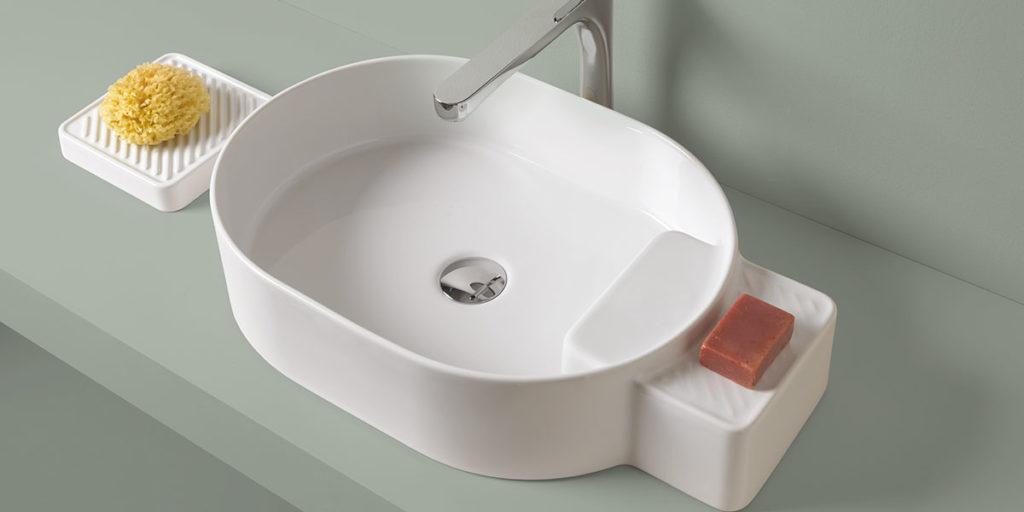 lavabo appoggio ovale ceramica