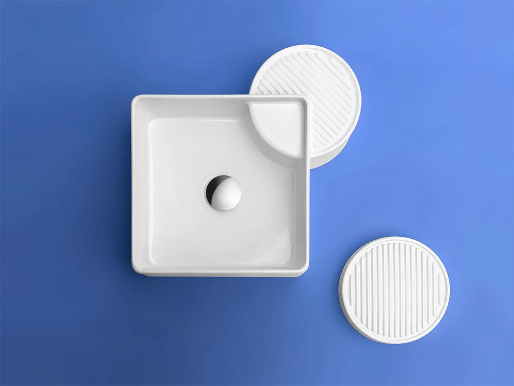lavabo appoggio quadrato