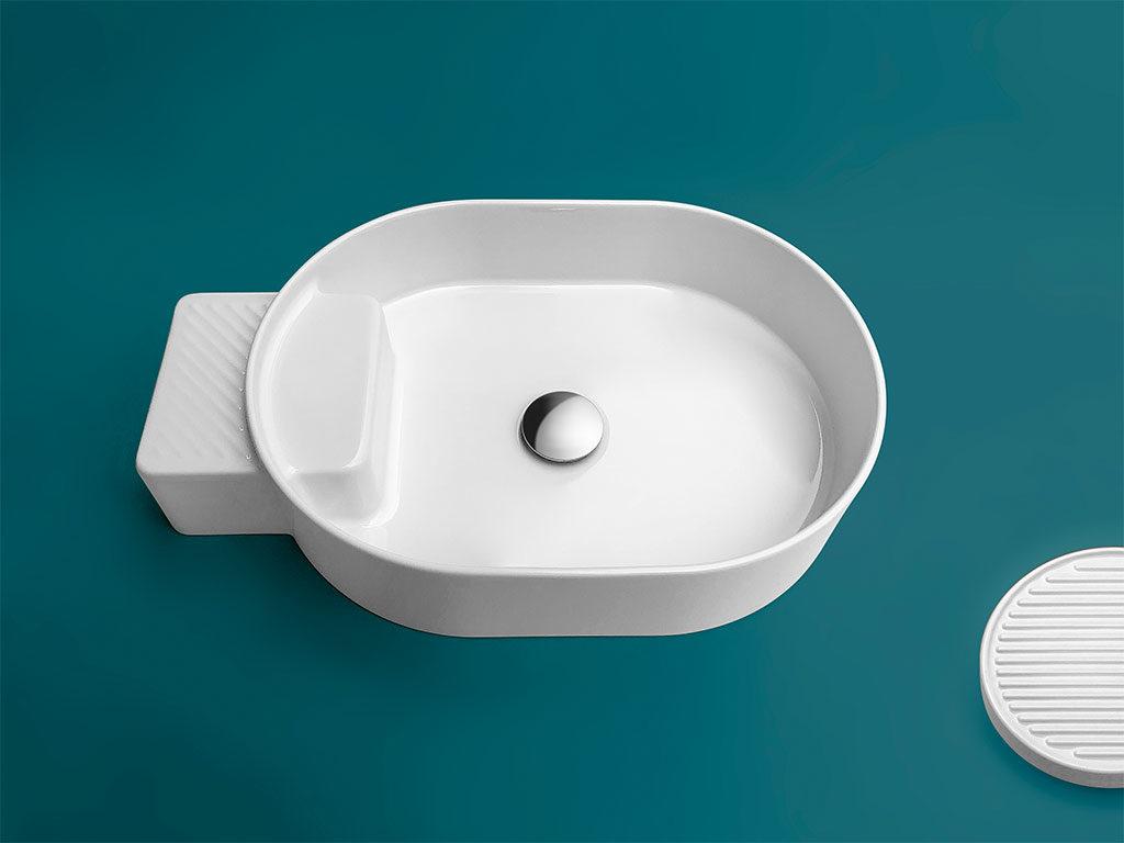 lavabo ovale appoggio ceramica