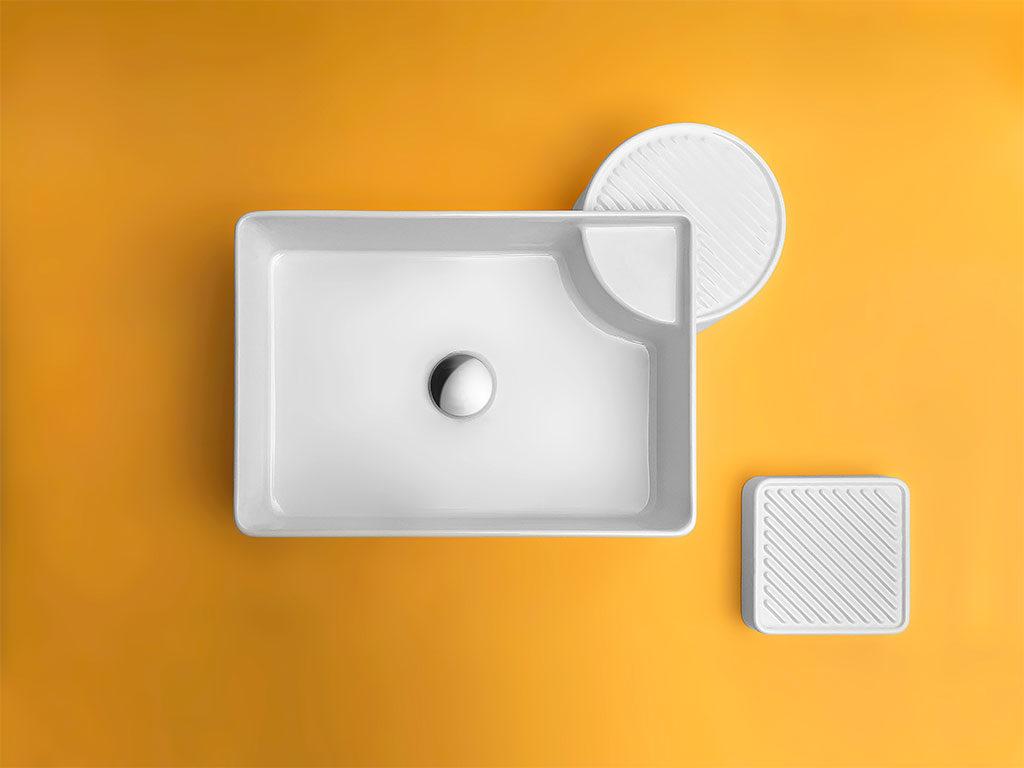 lavabo rettangolare appoggio