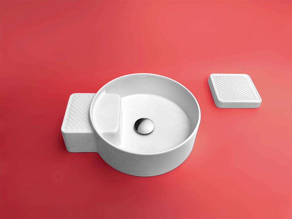 lavabo tondo appoggio ceramica