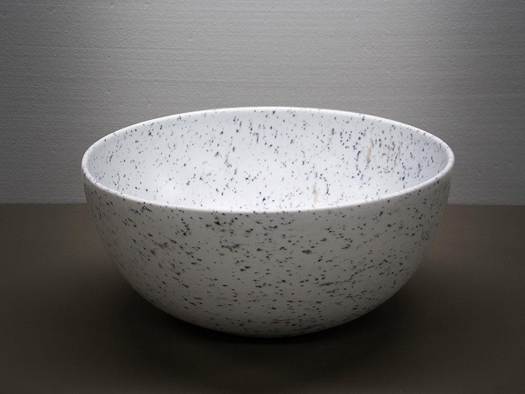 lavabo tondo appoggio pietra bianca