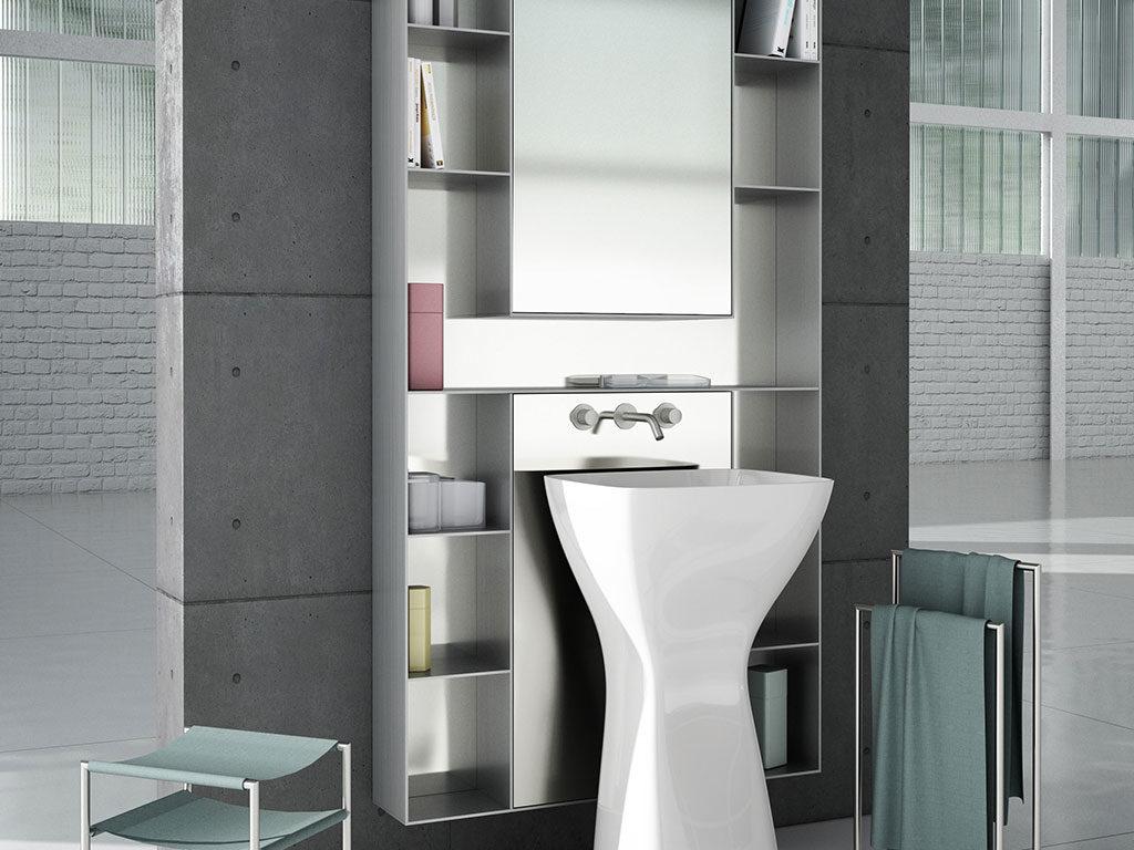 mobile bagno alluminio