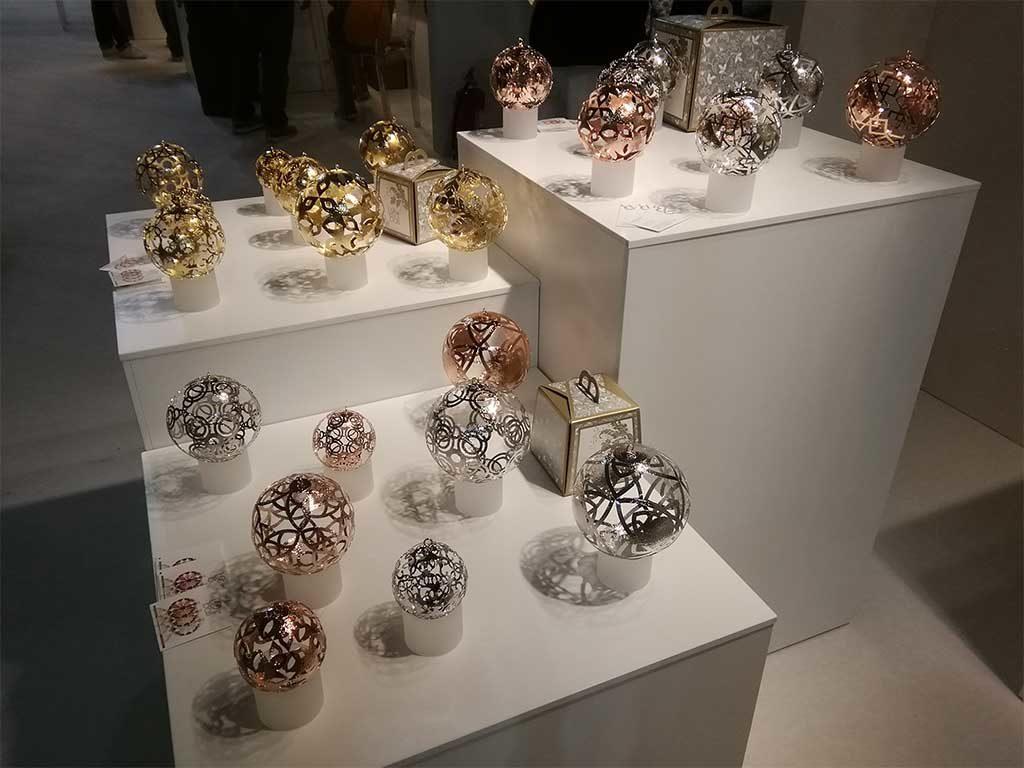 palle natale vetro decorate