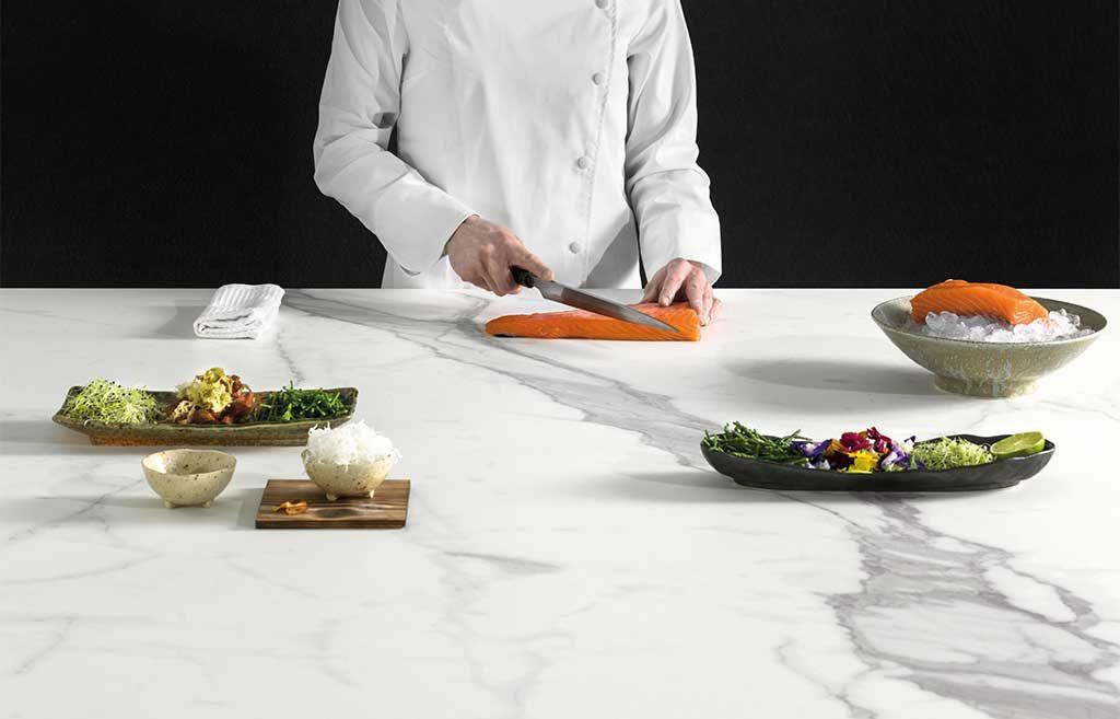 chef top cucina bianco stone