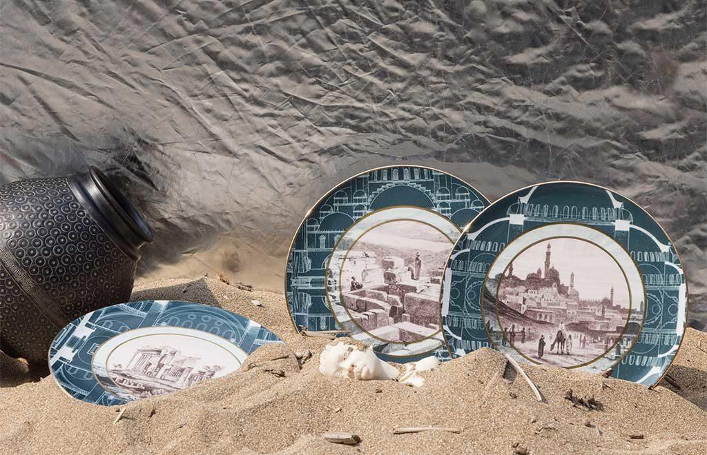 piatti decorati paesaggio