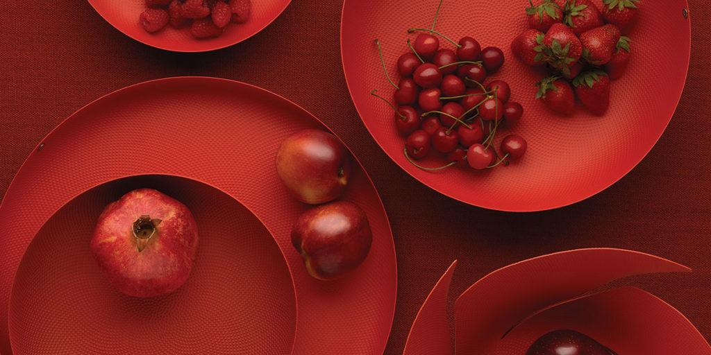 vassoi portefrutta rosso