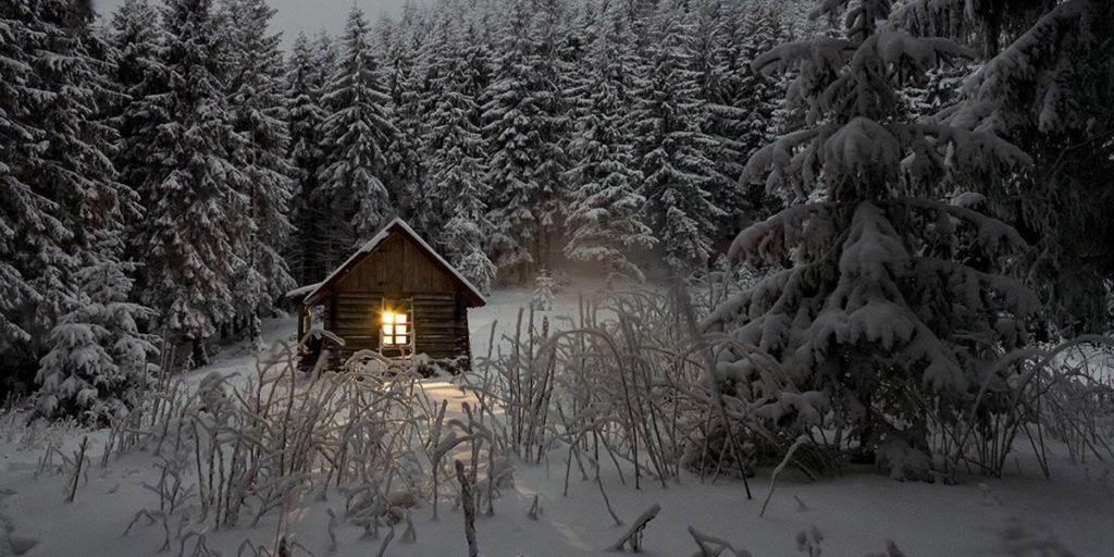 baita montagna neve