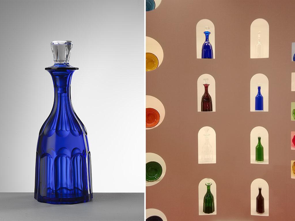 bottiglia tavola colorata