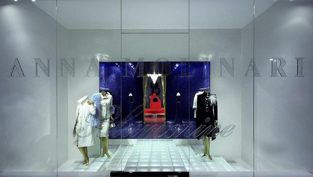 vetrina boutique anna molinari